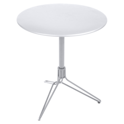 petite table metal, petite table ronde, petite table terrasse, table balcon, gueridon metal, petite table blanche