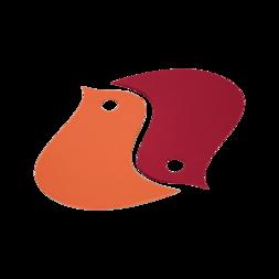 deco de table rouge, dessous de plat original, dessous de plat design