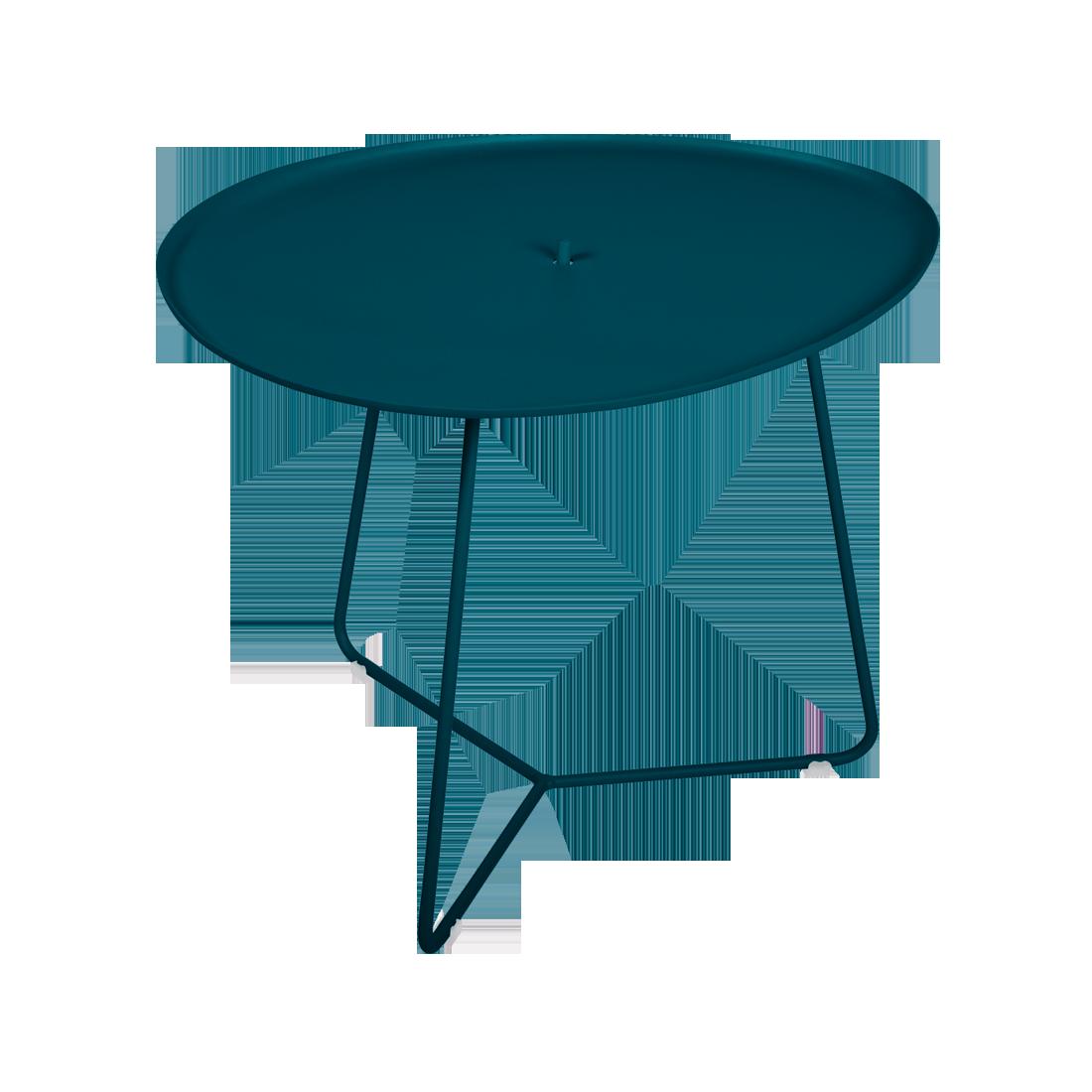 Table basse cocotte blau acapulco